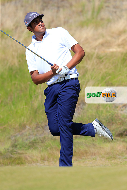 Tony Finau (USA) tees off the par3 9th tee during Saturday's Round 3 of the 2015 U.S. Open 115th National Championship held at Chambers Bay, Seattle, Washington, USA. 6/20/2015.<br /> Picture: Golffile | Eoin Clarke<br /> <br /> <br /> <br /> <br /> All photo usage must carry mandatory copyright credit (&copy; Golffile | Eoin Clarke)