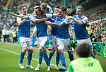 Celtic v St Johnstone &hellip;26.08.17&hellip; Celtic Park&hellip; SPFL<br />Steven MacLean celebrates his goal with David Wotherspoon, Liam Craig, Michael O&rsquo;Halloran, Paul Paton and Brian Easton<br />Picture by Graeme Hart.<br />Copyright Perthshire Picture Agency<br />Tel: 01738 623350  Mobile: 07990 594431