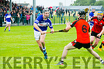 In Action St. Brendan's Cian Hussey  and Ballyheigue's Mikey O'Halloran in the County Championship Hurling Round 1 Ballyheigue v St Brendan's at Abbeydorney GAA ground on Sunday