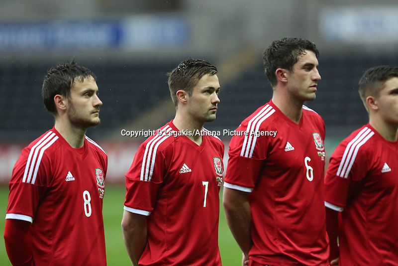 Pictured: Monday 19 May 2014<br /> Re: UEFA Euro Under-21 Qualifier, Wales v England at the Liberty Stadium, Swansea, south Wales, United Kingdom