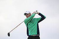 Mark Power from Ireland on the 5th tee during Round 3 Singles of the Men's Home Internationals 2018 at Conwy Golf Club, Conwy, Wales on Friday 14th September 2018.<br /> Picture: Thos Caffrey / Golffile<br /> <br /> All photo usage must carry mandatory copyright credit (&copy; Golffile | Thos Caffrey)