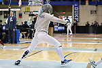 12 February 2017: UNC's Jackie Litynski in Saber. The University of North Carolina Tar Heels played the Northwestern University Wildcats at Card Gym in Durham, North Carolina in a 2017 College Women's Fencing match. UNC won the dual match 15-12 overall, 5-4 Foil, 5-4 Epee, and 5-4 Saber.