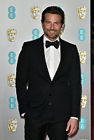 Bradley Cooper<br /> The EE British Academy Film Awards 2019 held at The Royal Albert Hall, London, England, UK on February 10, 2019.<br /> CAP/PL<br /> ©Phil Loftus/Capital Pictures