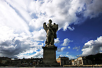 Ponte Sant'Angelo. Statua.<br /> Roma, 22 Novembre 2010.<br /> Photo  Serena Cremaschi Insidefoto