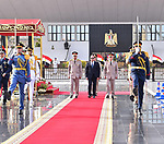 Egyptian President Abdel Fattah al-Sisi visits the tomb of former President Anwar al-Sadat and the Tomb of the Unknown Soldier during the commemoration of Sinai Liberation Day in Cairo on April 24, 2019. Photo by Egyptian President Office