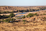Mapungubwe National Park, view of Limpopo and Shashi river confluence, Limpopo Province, South Africa, October 2014
