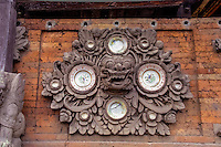Bali, Tabanan. A temple south of Tabanan city. Porcelain plates are often used as decoration.