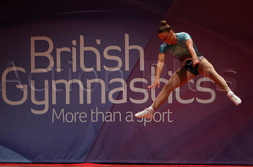 31.07.2015.  Liverpool, England. British Gymnastics Championship Series Day 2. Kayleigh Silva of the Martines Action Pack competes in the Aerobics British Championships 2015.