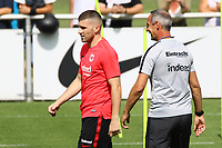 Ante Rebic (Eintracht Frankfurt) mit Trainer Adi H&uuml;tter (Eintracht Frankfurt) - 08.08.2018: Eintracht Frankfurt Training, Commerzbank Arena<br /> <br /> DISCLAIMER: <br /> DFL regulations prohibit any use of photographs as image sequences and/or quasi-video.