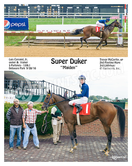 Super Duker winning at Delaware Park on 9/28/16