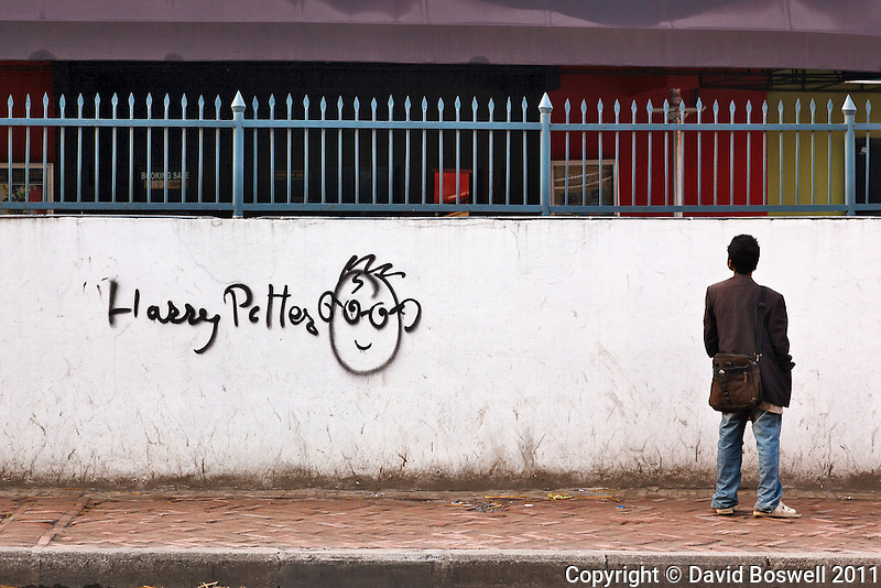 Harry Potter is popular even in Kathmandu, Nepal as evidenced by this graffiti.