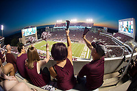 MSU fans cheer from the east side of Davis Wade Stadium during the Bulldogs' 23-9 win over No. 8 Auburn on Saturday [Oct. 6]. Following Saturday's top-10 victory, MSU re-entered the Associated Press poll at No. 24 and two Bulldogs received weekly honors from the Southeastern Conference. Quarterback Nick Fitzgerald was named Offensive Player of the Week and defensive lineman Montez Sweat was named SEC Defensive Lineman of the Week.<br />