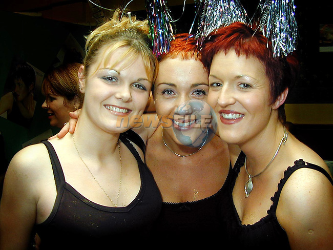 Laura Sheridan, Ruth Clinton and Dawn Heeney at the Millenium Hair Show in O'Neill's Duleek..Picture Paul Mohan Newsfile