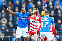 Omar Bogle of Portsmouth left appeals for a foul during Portsmouth vs Doncaster Rovers, Sky Bet EFL League 1 Football at Fratton Park on 2nd February 2019