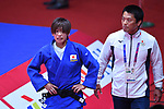 (L-R)  Ami Kondo,   Yoshimitsu Moriyasu (JPN), <br /> AUGUST 29, 2018 - Judo : Women's -48kg Final at Jakarta Convention Center Plenary Hall during the 2018 Jakarta Palembang Asian Games in Jakarta, Indonesia. <br /> (Photo by MATSUO.K/AFLO SPORT)