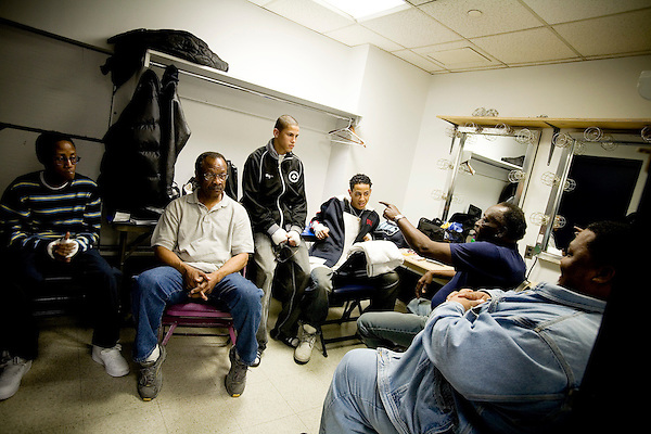 In the dressing rooms before the fights, the trainers tell stories of days past to get their fighters ready.. Thursday was the first night of the finals of the  79th annual Golden Glove Boxing tournament. Boxers from all over the New York who made it through the previous rounds were on hand at Madison Square Garden to compete for the coveted Golden Gloves Champion title.
