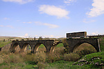 "Israel, Old Gesher, the Railway Bridge Built in 1904 for the Haifa - Damascus Route, ""Valley Train"" Route."