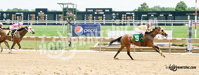 Baby Butterscotch winning at Delaware Park on 7/21/14