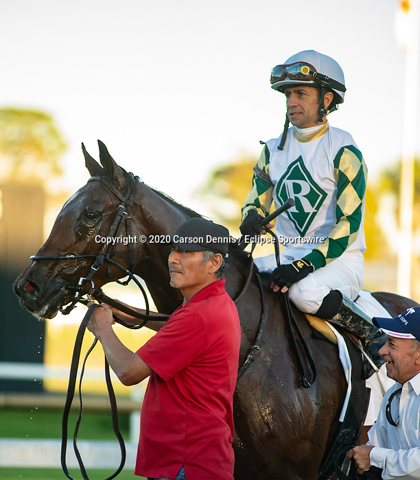February 8, 2020: #2, Sole Volante and Luca Panici upset the heavily favored Independence Hall for Trainer Patrick L. Baincone in the Grade III Sam F. Davis Stakes on February 8, 2020 in Tampa, FL. (Photo by Carson Dennis/Eclipse Sportswire/CSM)