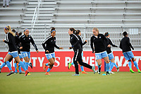 Boyds, MD - Saturday May 6, 2017: Sky Blue FC warmup prior to a regular season National Women's Soccer League (NWSL) match between the Washington Spirit and Sky Blue FC at Maureen Hendricks Field, Maryland SoccerPlex.