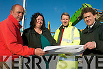 ENABLE: Studying the plans at the site of the new Enable Ireland centre being constructed in Tralee on Monday were, l-r Pat Crean (Credon Developments), Maria Leyden (Manager, Children's Services), Stephan Brits (Architect), Sean Scally (Enable Ireland).   Copyright Kerry's Eye 2008