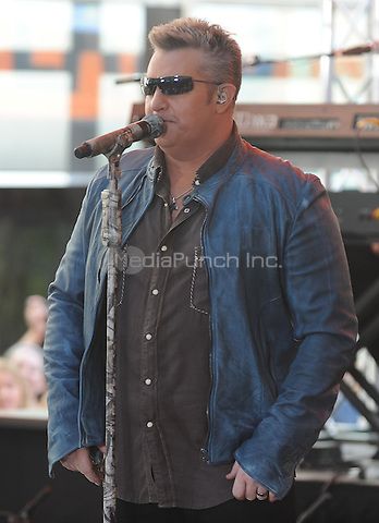New York,NY-May 30: Gary LeVox lead singer of Rascal Flatts performs in concert on The Today Show  in New York City on May 30, 2014. Credit: John Palmer/MediaPunch