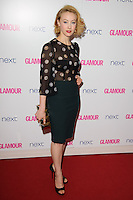 Sara Gadon arrives for the Glamour Women of the Year Awards 2014 in Berkley Square, London. 03/06/2014 Picture by: Steve Vas / Featureflash