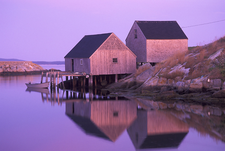 Fishing shacks on Peggy's Cove, Peggy's Cove, Nova Scotia, Canada