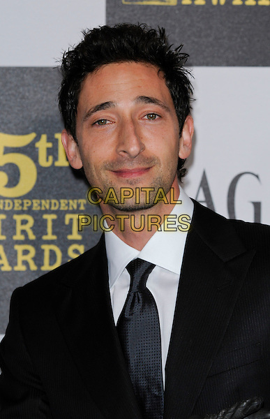 ADRIEN BRODY.The 25th Annual Film Independent Spirit Awards at the LA Live Event Deck in Los Angeles, California, USA..March 5th, 2010  .headshot portrait adrian black white stubble facial hair .CAP/ROT.©Lee Roth/Capital Pictures