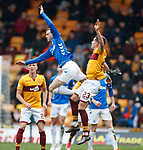 07.04.2019 Motherwell v Rangers: Andy Halliday and Alex Rodriguez-Gorrin