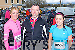 Ready for road at the Duathlon in Killorglin on Saturday were l-r: Anne Foley Cromane, Eddie Birmingham Killorglin, and Sinead O'Connor Beaufort