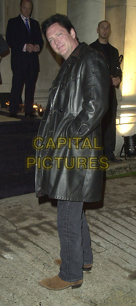 MICHAEL MADSEN.Burberry Perfume Launch, In & Out Club.full length, full-length, black leather coat.www.capitalpictures.com.sales@capitalpictures.com.©Capital Pictures.