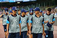Ballboys Champions<br /> Napoli 16-08-2017 Stadio San Paolo <br /> Napoli - Nice <br /> Uefa Champions League 2017/2018 Play Off <br /> Foto Cesare Purini Insidefoto