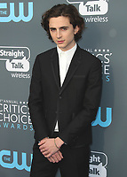 SANTA MONICA, CA - JANUARY 11: Timothee Chalamet at the 23rd Annual Critics' Choice Movie Awards at Barker Hangar on January 11, 2018 in Santa Monica, California. (Photo by Scott Kirkland/PictureGroup)