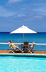 Barbados: Woman at resort, model released.   Photo barbad101.Photo copyright Lee Foster, 510/549-2202, lee@fostertravel.com, www.fostertravel.com