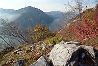 Veduta verso il Lago di Como e il Monte Moregallo, dal Monte Grigna --- View of Lake Como and Moregallo Mountain, from the Mount Grigna