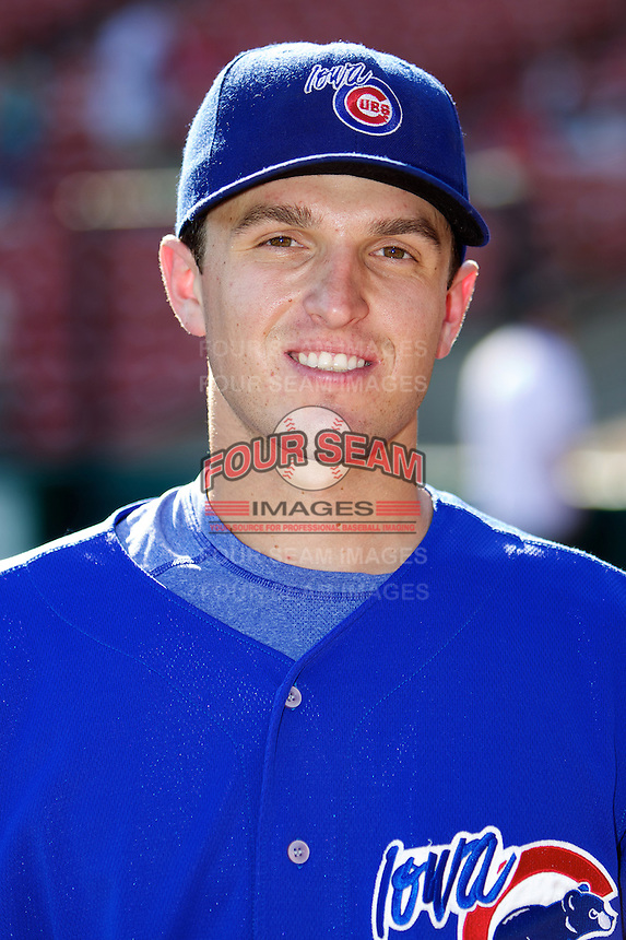 Iowa Cubs third baseman Josh Vitters #7 during the Triple-A All-Star game featuring the Pacific Coast League and International League top players at Coca-Cola Field on July 11, 2012 in Buffalo, New York.  PCL defeated the IL 3-0.  (Mike Janes/Four Seam Images)