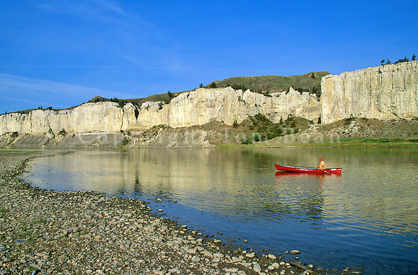Canoeing the Upper Missouri Wild and Scenic River, White Rocks area, Upper Missouri River Breaks National Monument, Loma, Montana, AGPix_0049 .