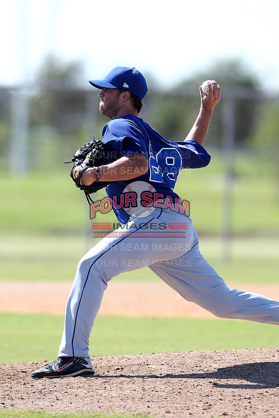 Italy National Team pitcher Nicholas Pugliese #28 during an Instructional League game against the Washington Nationals at Carl Barger Training Complex on September 28, 2011 in Viera, Florida.  (Mike Janes/Four Seam Images)