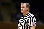 21 February 2016: Referee Mark Hardcastle. The Duke University Blue Devils hosted the Georgia Tech Yellow Jackets at Cameron Indoor Stadium in Durham, North Carolina in a 2015-16 NCAA Division I Women's Basketball game. Georgia Tech won the game 64-59.