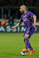 Calcio, Coppa Italia: semifinale di ritorno Fiorentina vs Juventus. Firenze, stadio Artemio Franchi, 7 aprile 2015. <br /> Fiorentina's Borja Valero in action during the Italian Cup semifinal second leg football match between Fiorentina and Juventus at Florence's Artemio Franchi stadium, 7 April 2015.<br /> UPDATE IMAGES PRESS/Isabella Bonotto