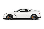 Driver side profile view of a 2014 Nissan GTR Coupe