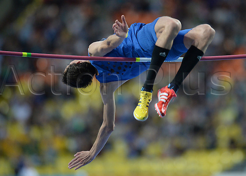 15.08.2013. Moscow, Russia.  Bohdan Bondarenko of Ukraine comepets in the Men's High Jump final at the 14th IAAF World Championships in Athletics at Luzhniki Stadium in Moscow, Russia