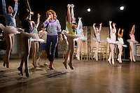 NEW YORK - SEP 29 : The cast of the broadway musical, Billy Elliot, participate in a dress rehearsal on Monday, September 29, 2008, in New York City. (Photo by Landon Nordeman)