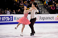 Wednesday, March 30, 2016: Maia Shibutani and Alex Shibutani (USA) skate in the short dance event at  the International Skating Union World Championship held at TD Garden, in Boston, Massachusetts. Eric Canha/CSM