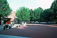 Greenbelt:  Village Center--Former movie house, now a playhouse.  Photo '85.
