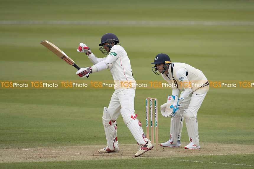 Haseeb Hameed of Lancashire CCC presents Malan with a difficult caught and bowled which the latter takes to end Hameed's innings during Middlesex CCC vs Lancashire CCC, Specsavers County Championship Division 2 Cricket at Lord's Cricket Ground on 12th April 2019