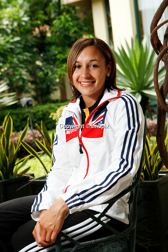 British heptathlete Jessica Ennis at the Westin Resort, Macau<br /> 17 Aug 2007
