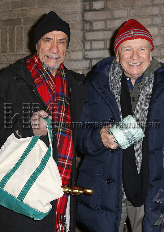 F. Murray Abraham and Terrence McNally and the cast from 'It's Only A Play' head to their new home at the Bernard B. Jacobs Theatre on January 23, 2014 in New York City.