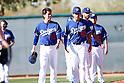 (L-R) Kenta Maeda, Jose De Leon (Dodgers),<br /> FEBRUARY 20, 2016 - MLB :<br /> Los Angeles Dodgers spring training baseball camp in Glendale, Arizona, United States. (Photo by AFLO)